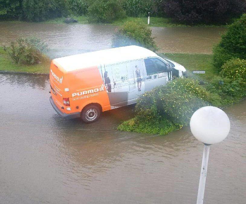 Purmo abgeknipst Schwere Regenfälle in Goslar