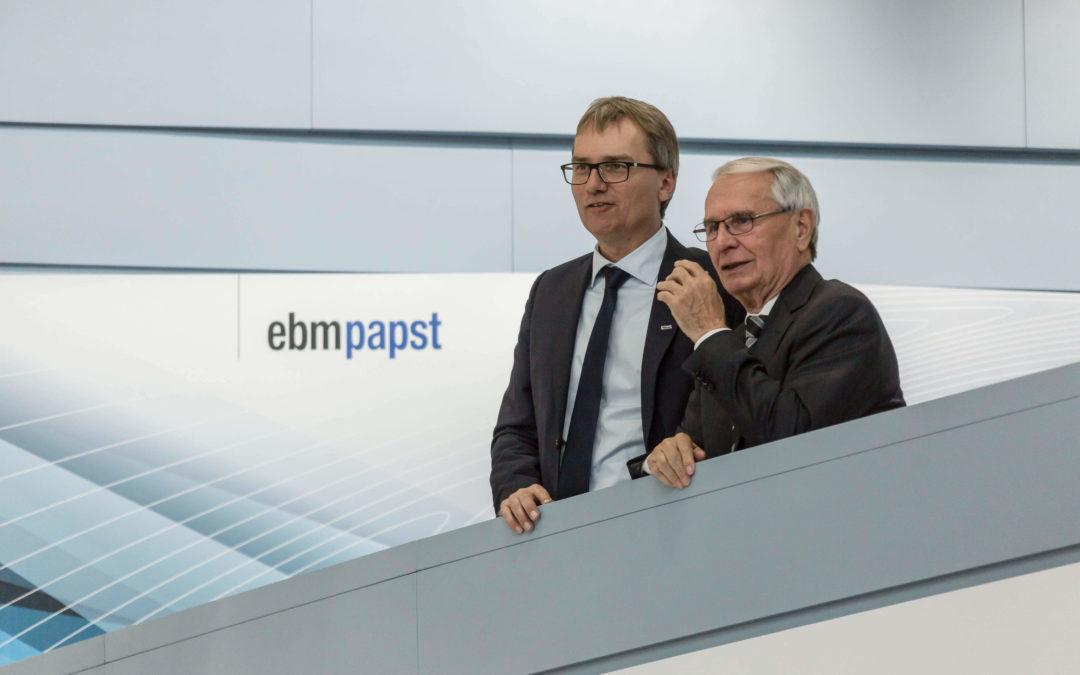 Gerhard Sturm übergibt das Zepter Generationenwechsel bei ebm-papst