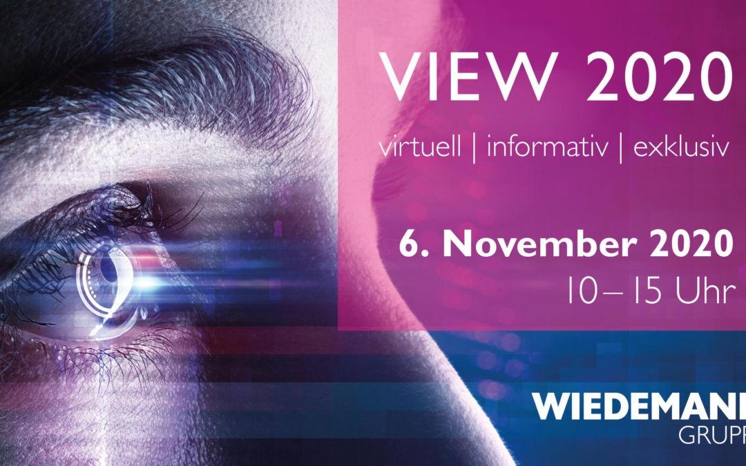 Unterhaltung und Überraschungen Wiedemann kündigt Messe View 2020 offiziell an