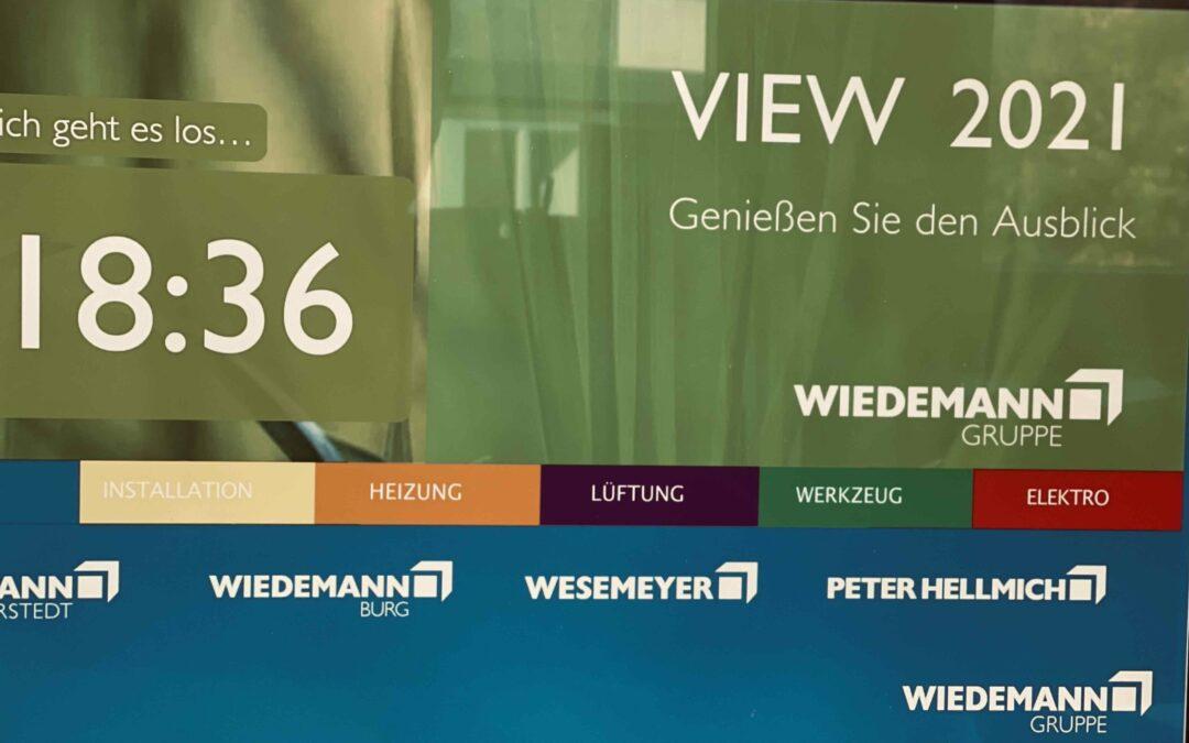 Start der View 2021 Live-Übertragung hoppelt Start der Wiedemann-Hybrid-Messe mit Wacklern